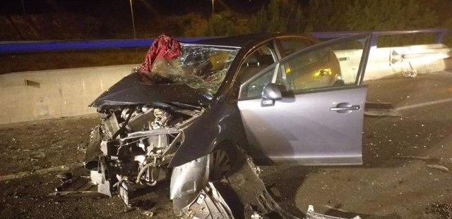 Muere una conductora en una colisión frontal en Vilafranca del Penedès