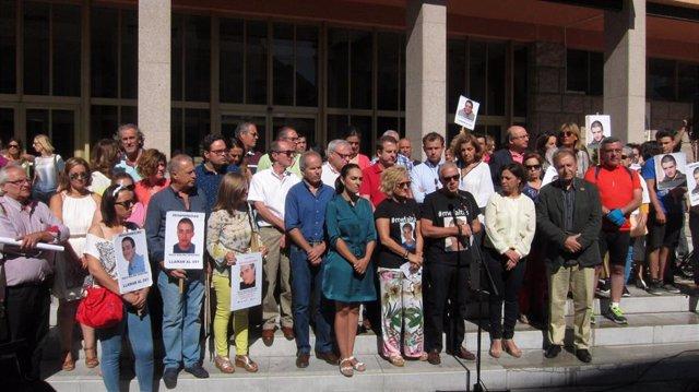Una concentración por la desparición de Paco Molina en Córdoba, en una imagen de archivo