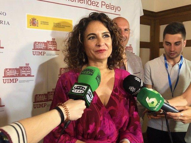 Ministra de Hacienda, María Jesús Montero