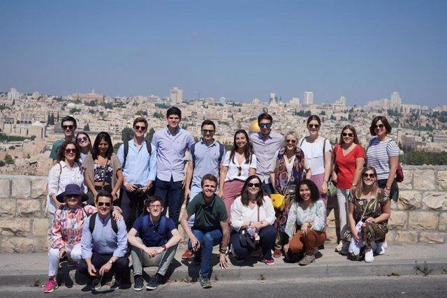 Estudiantes de la Universidad de Navarra en su visita a Israel