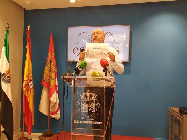 El portavoz de Ciudadanos en Cáceres, Francisco Alcántara