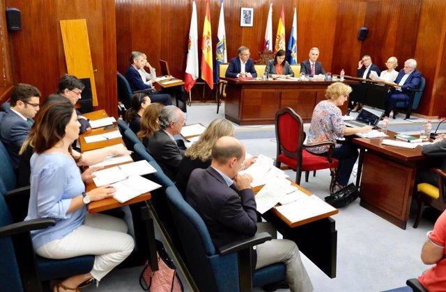 Pleno extraordinario del Ayuntamiento de Santander, el primero de la legislatura