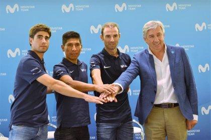 Quintana, Valverde y Landa repiten tridente del Movistar para el Tour