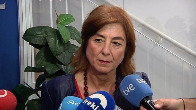 La consejera de Educación, Cristina Uriarte, antes de participar en una jornada organizada por Eudel