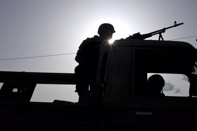 Un soldado en Burkina Faso