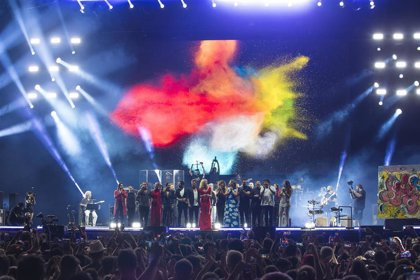 El Concierto por la Paz reúne en Madrid a una veintena de artistas y 35.000 espectadores