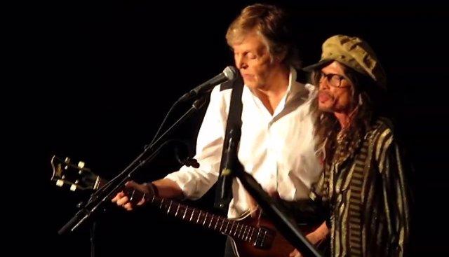Paul McCartney y Steven Tyler