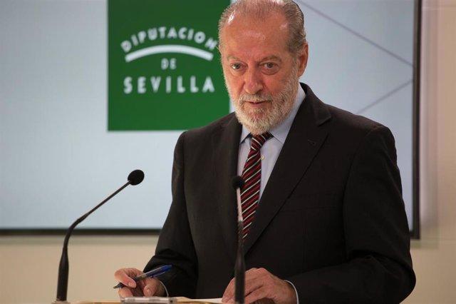 Fernando Rodriguez Villalobos, durante una rueda de prensa