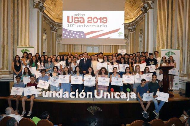Fundación Unicaja hace entrega de sus 'Becas USA 2019' para la inmersión lingüística