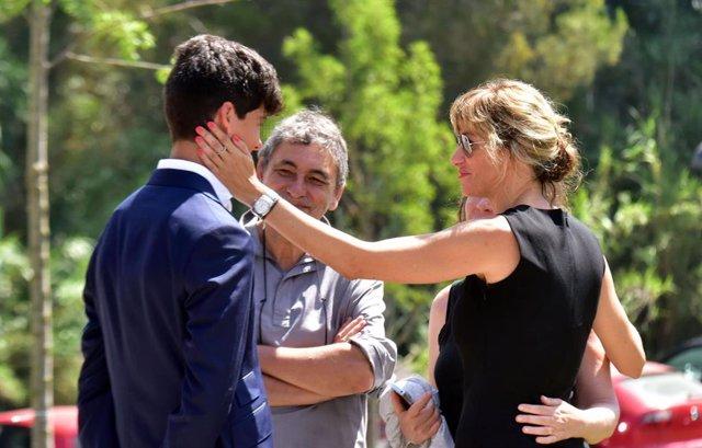 Susanna Griso en el funeral de su hermana