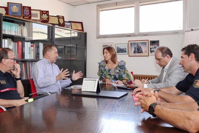 La consejera municipal de Servicios Públicos y Movilidad, Natalia Chueca, coordina el operativo de Proteccion Civil