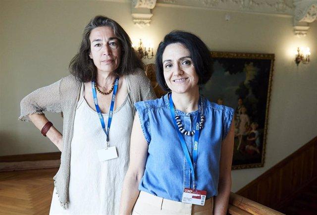 Rebeca Palomo (dcha) y Rocío Rodríguez