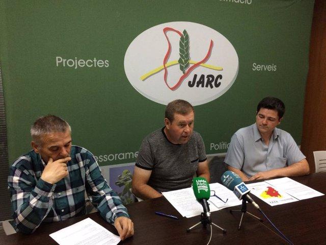 Lluís Viladrich, Xavi Vela i Jordi Vidal, membres de la Jarc.