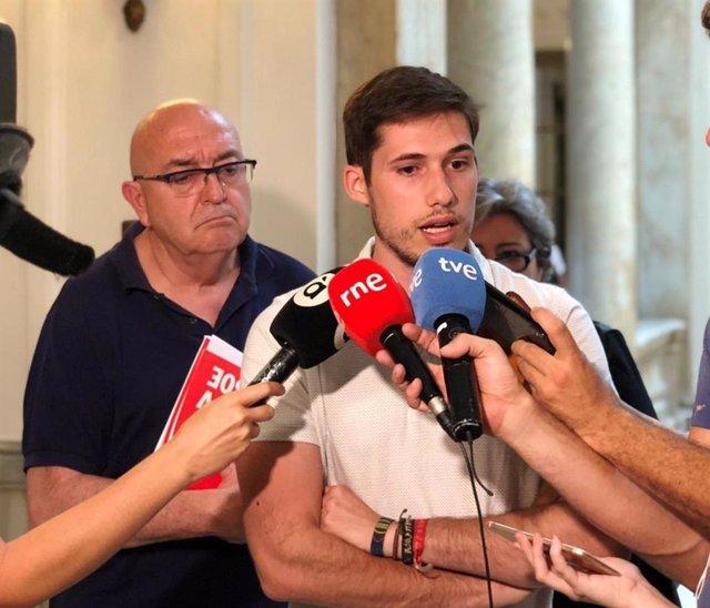 El portavoz del PSPV de València y miembro de la comisión negociadora para el nuevo gobierno de la ciudad, Borja Sanjuán.