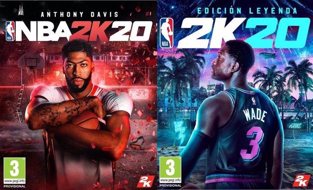 Anthony Davis y Dwyane Wade protagonizarán las portadas de NBA 2k20