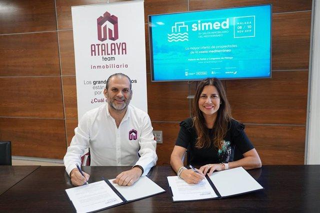 Firma convenio Simed y Atalaya Team