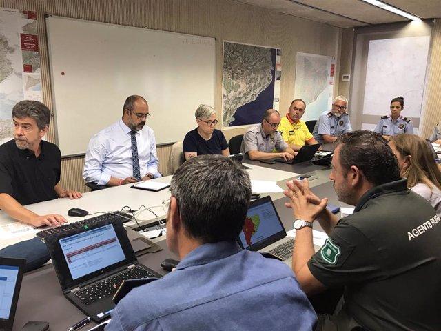 Buch preside el Comité Técnico del plan Infocat y seguimiento de la ola de calor