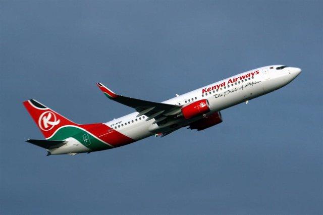 Avión de Kenya Airways (Imagen de archivo)