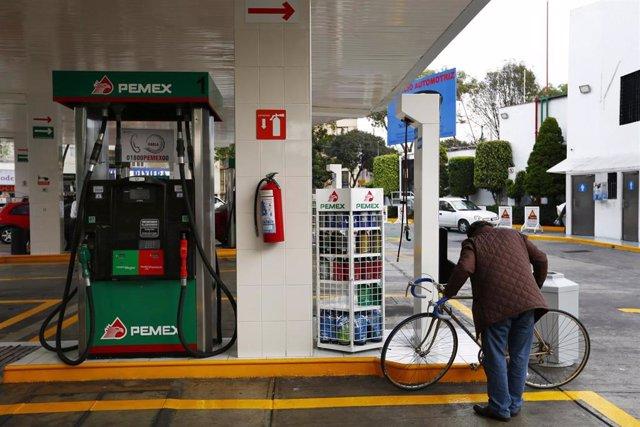 Gasolinera de Pemex en México.