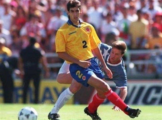 El futbolista colombiano Andrés Escobar
