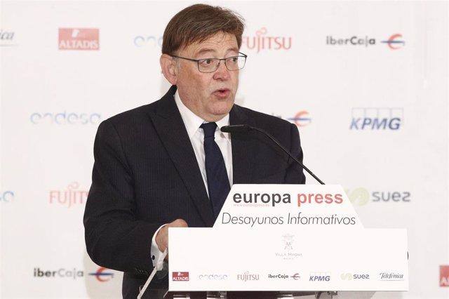 Ximo Puig protagoniza un Desayuno Informativo de Europa Press