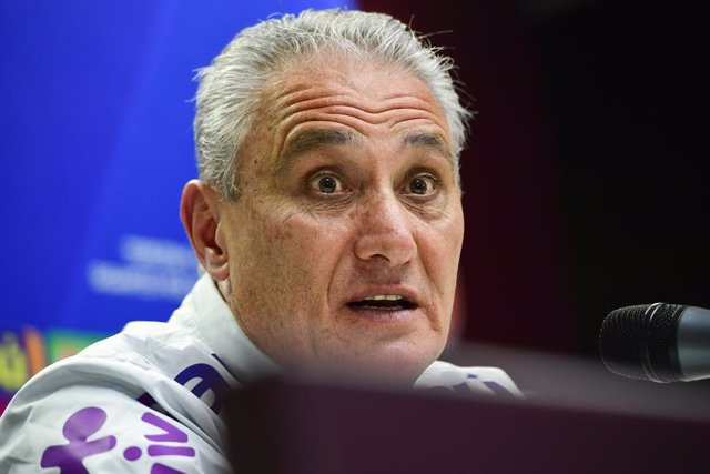 25 March 2019, Czech Republic, Prague: Brazil manager Tite speaks during a press conference for the Brazil national soccer team ahead of Tuesday's international friendly soccer match against Czech Republic. Photo: Roman Vondrou?/CTK/dpa