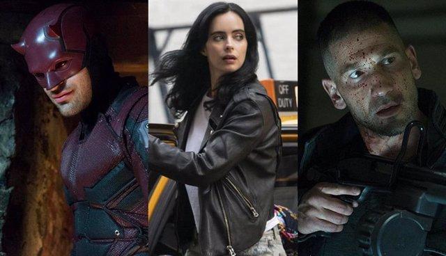 Imágenes de las series Daredevil, Jessica Jones y The Punisher