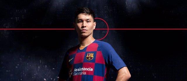 El nuevo jugador del Bara de fútbol sala, Daniel Shiraishi