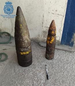 Ambos artefactos correctamente desactivado por los especialistas de la Policía Nacional