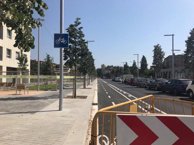 Barcelona estrena el primer tramo reformado de la calle Pere IV en su lado Besòs