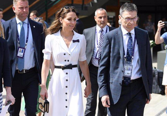 Kate Middleton, Duquesa de Cambridge en el campeonato de tenis de Wimbledon 2019