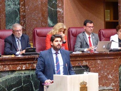 Vox, PSOE y Podemos tumban la investidura de Fernando López Miras (PP) como presidente de Murcia