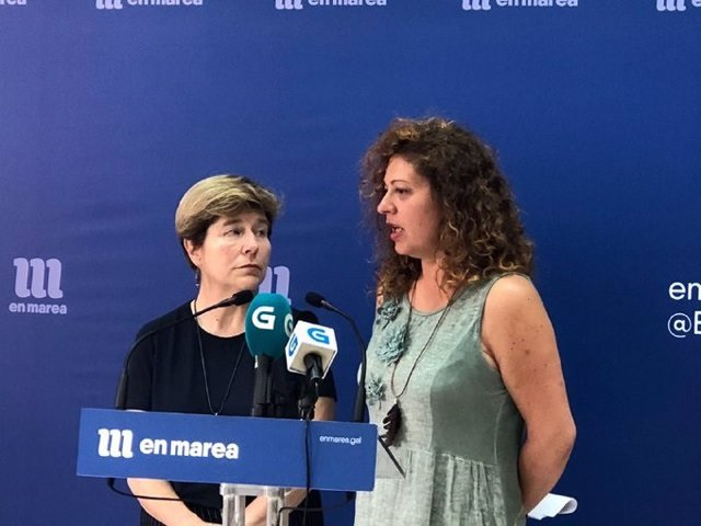 Las viceportavoces de la dirección de En Marea, Ana Seijas y Mariló Candedo