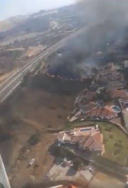 Declarado un incendio forestal en el paraje Majadilla del Muerto en Mijas (Málaga)