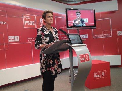 """Chivite quiere un acuerdo de Gobierno """"lo antes posible"""" y agradece """"la voluntad"""" de Geroa Bai, Podemos e I-E"""
