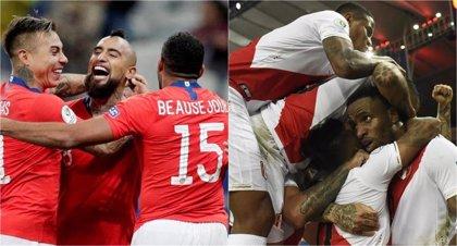 Chile busca la tercera final seguida y Perú acabar con el campeón