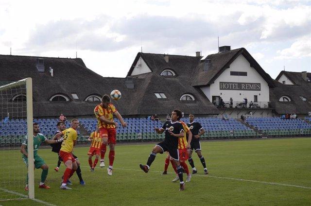 La Selección AFE España se impone al Korona Kielce en su primer amistoso (1-3)