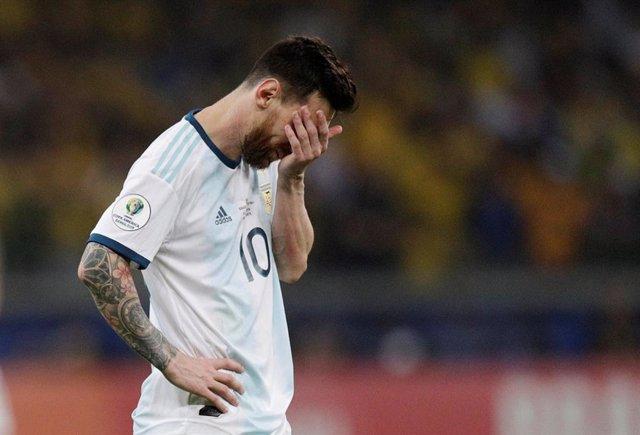 Messi lamenta la derrota de Argentina