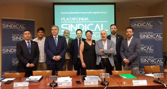 Constitución de la Plataforma Sindical Plural (PSP)