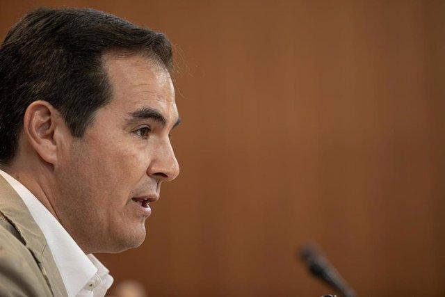 Rueda de prensa del portavoz parlamentario del PP-A, José Antonio Nieto.
