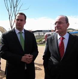 El concejal de Urbanismo, Manuel Díaz, y el alcalde, Francisco de la Torre