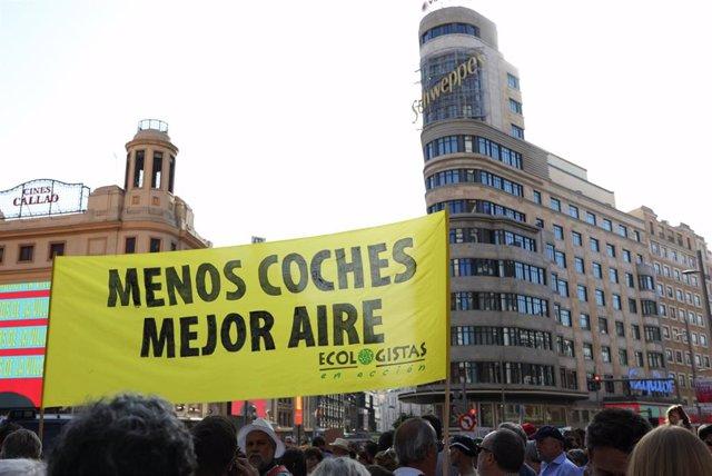 Imagen de archivo de la manifestación a favor de Madrid Central en Madrid