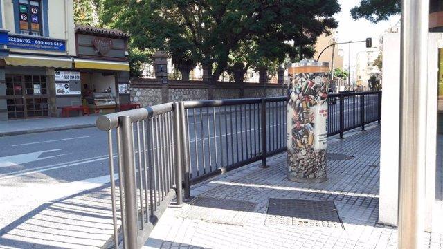 Barandillas en calle Málaga capital