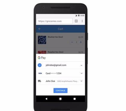 Google facilita el pago 'online' en Chrome sin tener que activar la sincronización
