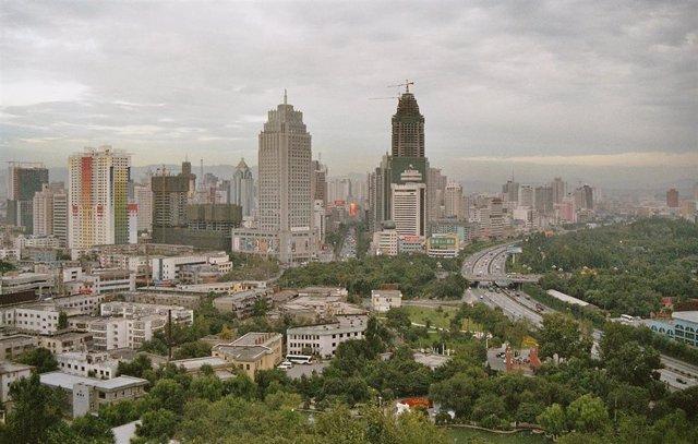 Ciudad de Urumchi, en la región china de Sinkiang