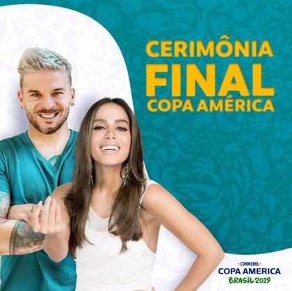 Anitta y Pedro Capó, el dueto que amenizará la ceremonia de clausura de la Copa América 2019