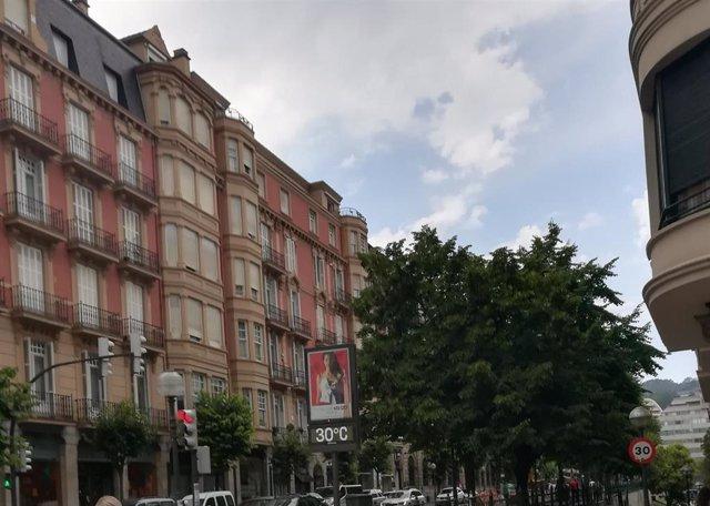 Termómetro marca 30 grados en Bilbao