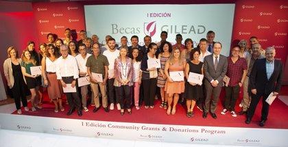 Gilead otorga becas a 29 organizaciones e instituciones por valor de 474.000 euros para 51 proyectos