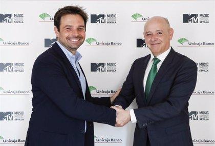 Unicaja Banco colaborará con su patrocinio en la MTV Music Week, antesala de la entrega de premios MTV EMA 2019