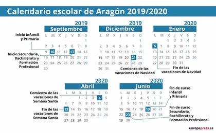 Calendario Escolar 2020 Aragon.Calendario Escolar En Aragon 2019 2020 Navidad Semana Santa Y Vacaciones De Verano